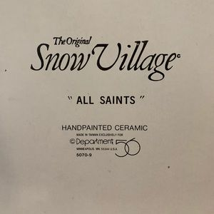 Snow Village All Saints